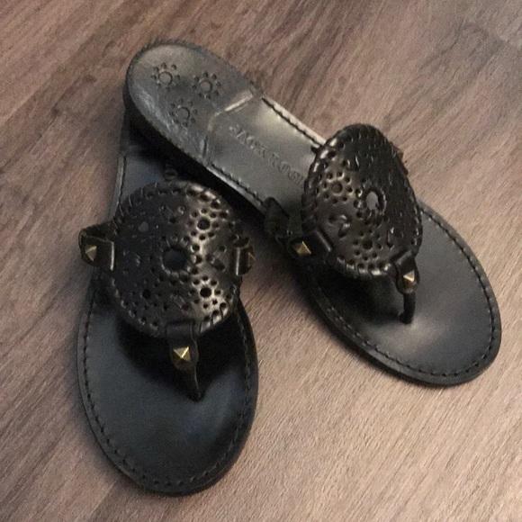 6e3fd9e63 Jack Rogers Shoes - Jack Rogers black Georgica sandal